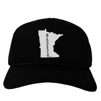 Minnesota - United States Shape Adult Dark Baseball Cap Hat