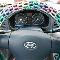 crochet steering wheel cover by stephsyaya on Etsy