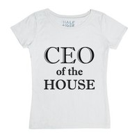 Ceo Of The House (tee)-Female White T-Shirt