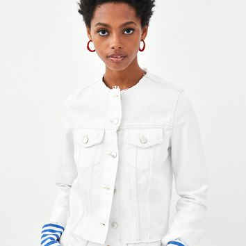 """AUTHENTIC"" COLLARED DENIM JACKETDETAILS"