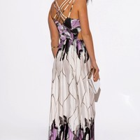 Electric Love Watercolor Maxi Dress
