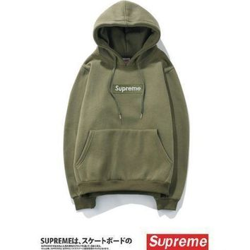 ca auguau Hot Supreme F/W Box Logo Hoodie Sweater Hip-hop Sweatshirts Size S,M,L, XL