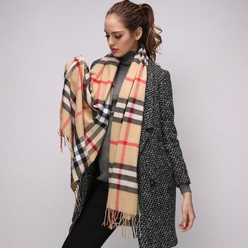 Womens Mens Super Soft Classic Cashmere Feel Winter Scarf Gift