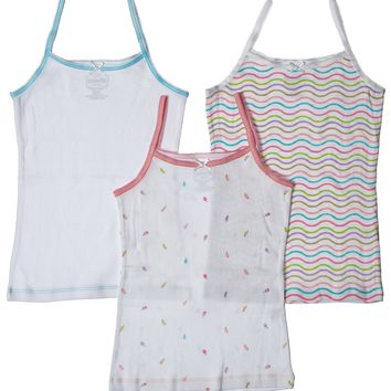 3-Pack Bright Popsicles Camisole Undershirt 100% Cotton Fashion Prints