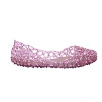 Cut Out Glitter Jelly Flats