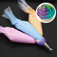 Icing Piping Bag Nozzle Converter Tri-color Cream Coupler Cake Decorating Tools For Cupcake Fondant Cookie 3 Hole 3 Color [8045581383]