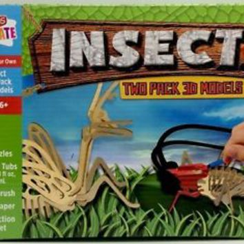 Kids Create Insect two pack 3d models New in box Puzzle Craft Kit