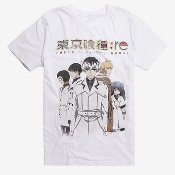 Tokyo Ghoul: Re Group White T-Shirt Hot Topic Exclusive