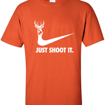 just shoot it hunting buck doe deer funny t-shirt US dope hunting shirt Mens Womens Ladies USA Canada wild wildlife moose turkey ML-169