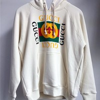 Gucci Classic Logo Back Sequins Snake Hooded Sweatshirt
