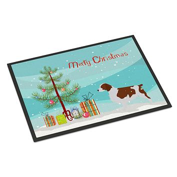Welsh Springer Spaniel Christmas Indoor or Outdoor Mat 24x36 BB2918JMAT