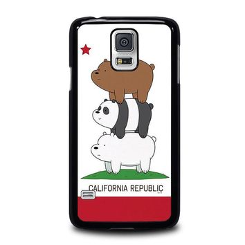 we bare bears california republic samsung galaxy s5 case cover  number 1