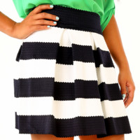The Travel Time Skirt: Navy/Ivory