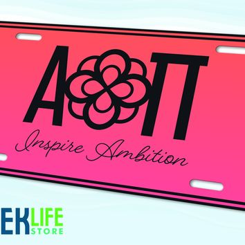 Alpha Omicron Pi License Plate
