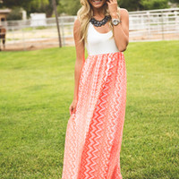 Pop of Color Chevron Maxi Neon Orange