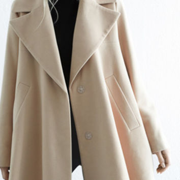 Camel Swing Coat