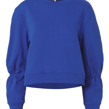 Sculpted Sleeve Royal Blue Sweatshirt
