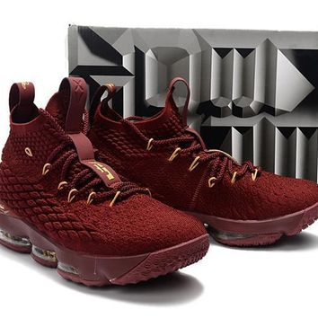 nike lebron james 15 xv wine red basketball shoe us 7 12  number 1