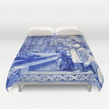 Portuguese Historical Art. Duvet Cover by Tony Silveira