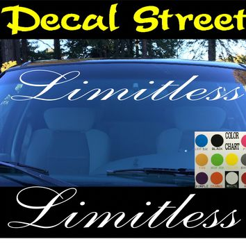 Limitless Windshield Visor Die Cut Vinyl Decal Sticker