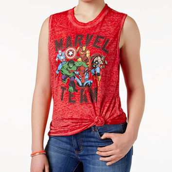 Marvel Juniors' Team Graphic Tank Top - Juniors Graphic Clothing - Macy's