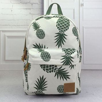 LMFON1O Day First Pineapple Backpack Travel Bag School