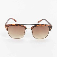 Brow Bar Square Sunglasses- Brown One