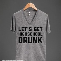 Highschool Drunk-Unisex Athletic Grey T-Shirt