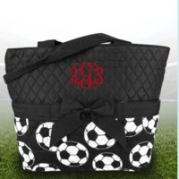 Quilted Soccer Diaper Bag