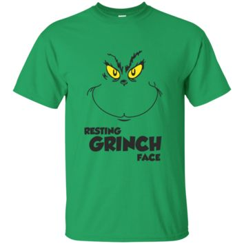Resting Grinch Face Shirt Grinch Christmas T-Shirt Grinch Please Tee Funny Grinch Clothing All Size