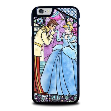 cinderella art glasses disney iphone 6 6s case cover  number 1