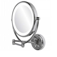 Bathroom Wall Mirror Vanity Mirrors Mount Cabinet Lighted LED Round Chrome