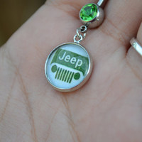 Green Jeep© Inspired Belly Ring (NOT Water Resistant)