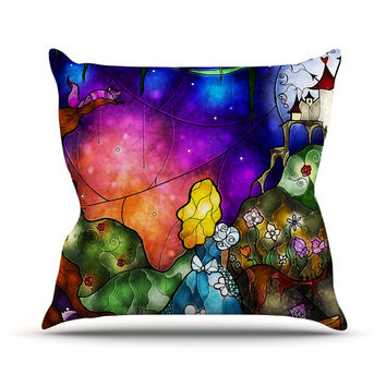 "Mandie Manzano ""Fairy Tale Alice in Wonderland"" Throw Pillow"