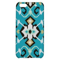 Vibrant ikat pattern in turquoise