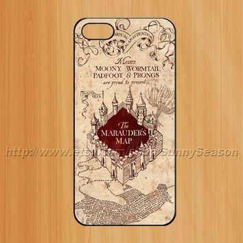 Harry Potter iphone 5 case,The Midnight Marauders Map iPhone 5 Case,Harry Potter Marauder's Map iPhone 5 Hard Case,Marauder Map Art case