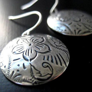 NEW  Chloe Earrings Antiqued Brass Round by JulieEllynDesigns