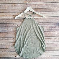 Ellie Round Neck Tank (Heather Gray)