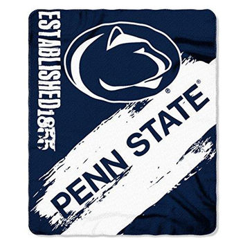 Penn State Nittany Lions NCAA Light Weight Fleece Blanket (Painted Series) (50inx60in)