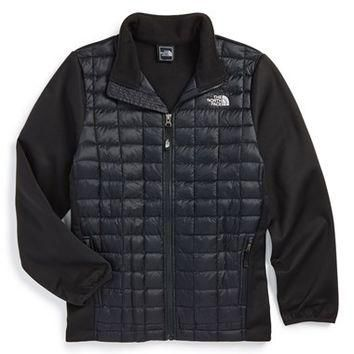 The North Face Boy's 'ThermoBall' Quilted Hybrid Jacket,