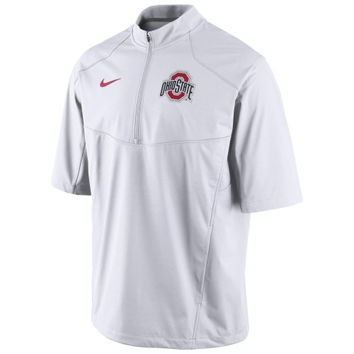 Ohio State Buckeyes Nike 2014 Football Sideline Short Sleeve Hot Jacket - White
