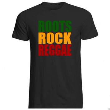 ROOTS ROCK REGGAE T-SHIRT ALL SIZES + COL (Gildan Brand rasta roots Marley Bob)