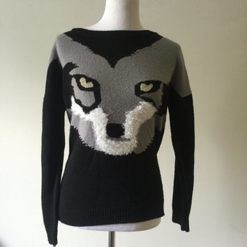 Animal - Howl at the Moon - Wolf Knit Sweater