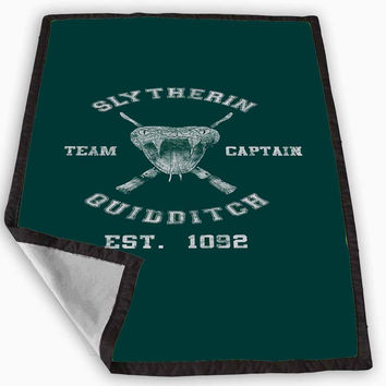 harry potter slytherin quidditch team captain Blanket for Kids Blanket, Fleece Blanket Cute and Awesome Blanket for your bedding, Blanket fleece **