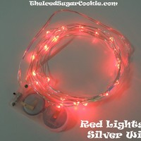 Red LED Battery Operated Fairy Lights