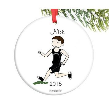 Cross Country Male  Runner Ornament - personalized philoSophie's