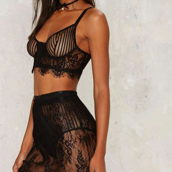 Trish Lace Bra and Skirt Set