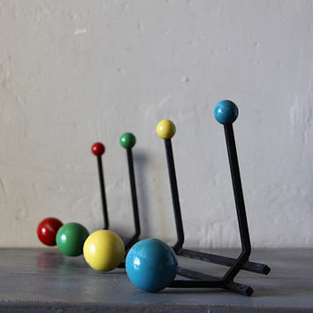 Large Unusual Mid Century Atomic Coat Hook Hat Rack