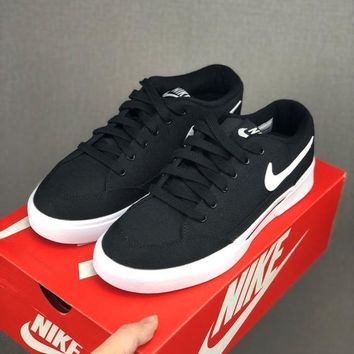 HCXX 19June 993 Nike GTS Classic casual canvas board shoes black