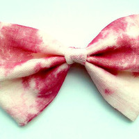 Big Blood Stained/Splattered Hair Bow- Halloween